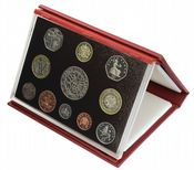 2003 Proof set red Leather deluxe